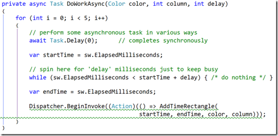 async-completed synchronously code